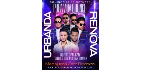 PURA VIDA BRUNCH PARTY- 13 DE OCTUBRE- MAMAJUANA CAFE PATERSON, Paterson, New Jersey