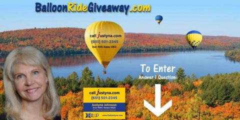 Win a Hot Air Balloon Ride in Stillwater, MN, Woodbury, Minnesota